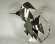 Sailing - metal sculpture